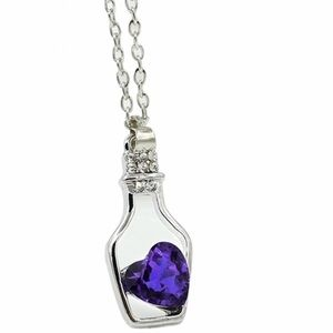 Jewelry - 🆕 (E23) Blue Heart in a Bottle Necklace